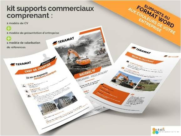 kit supports commerciaux