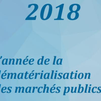 année de la dématérialisation réponse électronique marchés publics dume électronique